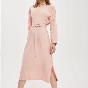 Topshop pink midi dress. Size 6